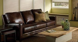 Make a decorating statement with leather furnishings.